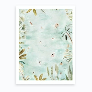 Tropical Swimmers Art Print