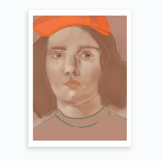 Orange Portrait Art Print