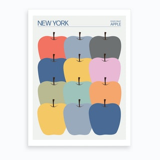 New York State Apples Art Print