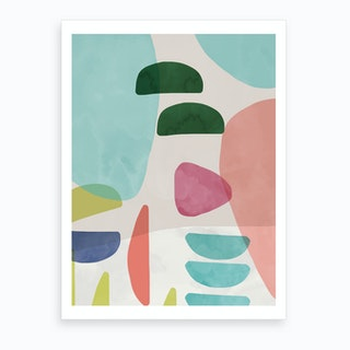 Organic Bold Shapes Art Print