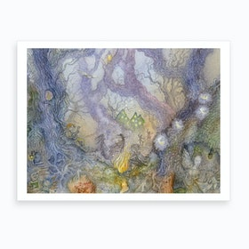 Tangled Wood Crop Art Print