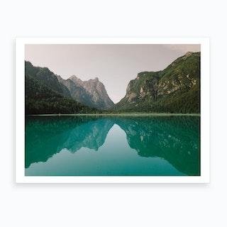 Lago Di Dobbiaco Italy Art Print