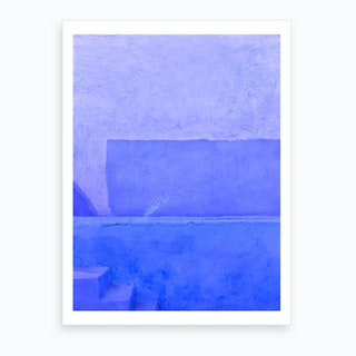 Blue City Of Chefchaouen In Morocco Art Print