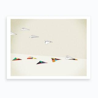 Walking Shadows   Planes Art Print