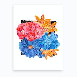 Flower Collage 3 Art Print
