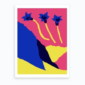 Gentiane Art Print