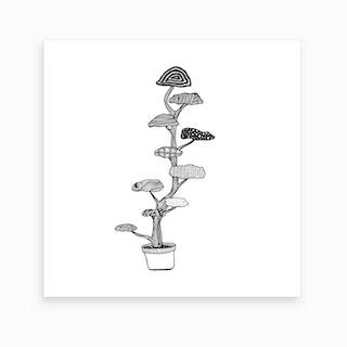Cloud Tree2 Art Print