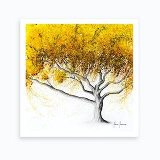 Sunflower Fire Tree Art Print