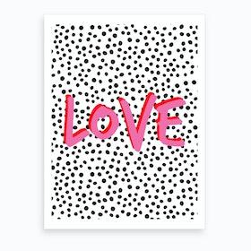 Love Polkadot Art Print
