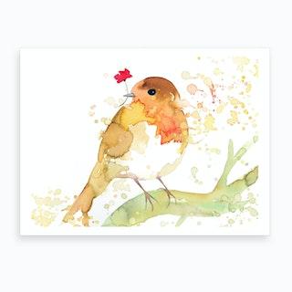 Robinwithpoppy Art Print