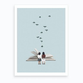 We Communicate Silently Art Print
