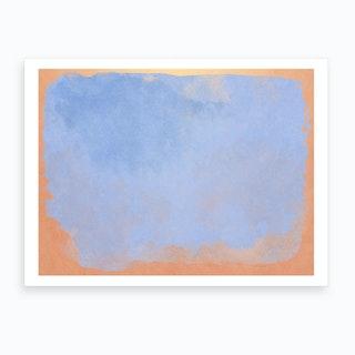 Minimal Abstract Light Blue Colorfield Painting 2 Art Print