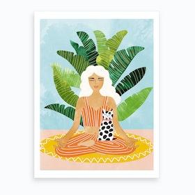 Meditation With Thy Cat Art Print