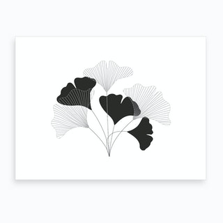 Simple Drawing Flowers Art Print