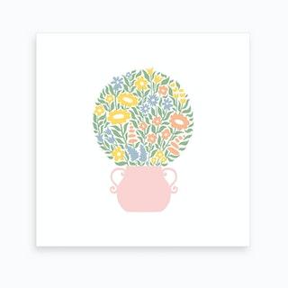 Ball Bouquet Green Art Print