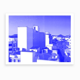 View Of Heraklion From The Roof Art Print