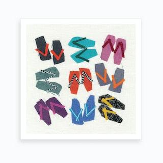 Flip Flops Art Print