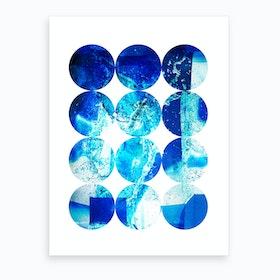Circles Water Art Print