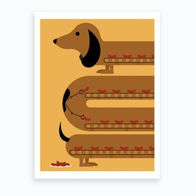 Sausage Dog Art Print