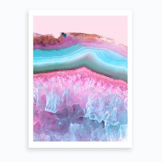 Pastel Agate Art Print