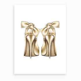 Golden Heels Art Print