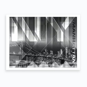 Brooklyn Bridge & Skyline Art Print