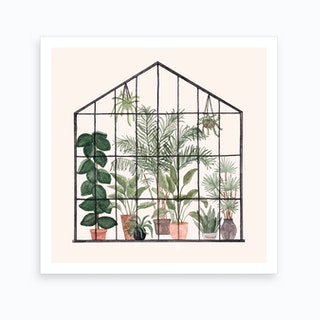 Greenhouse Square Art Print