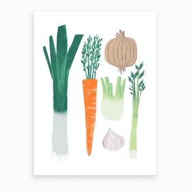Veggie Broth Art Print