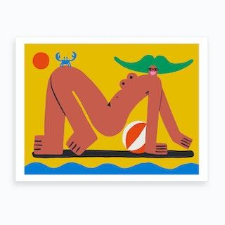 Crabwalk Home To Cuddle Art Print