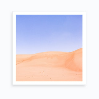 Sandy Desert Landscape Oman Art Print