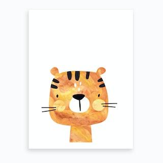 Orange Tiger Art Print