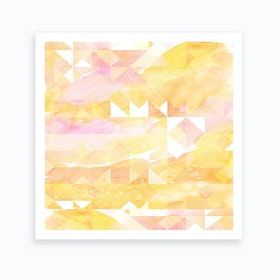 Abstract Watercolor Geometric II Art Print