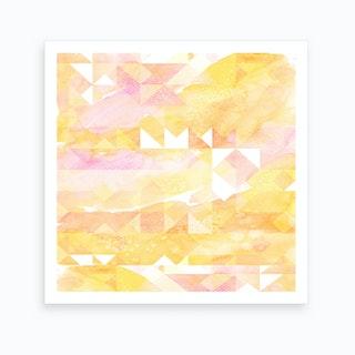 Abstract Watercolor Geometric II Art Print