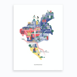 Guangzhou Art Print