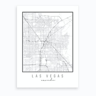 Las Vegas Nevada Street Map Art Print