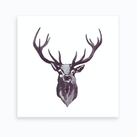 Mountain Love   Stag Art Print