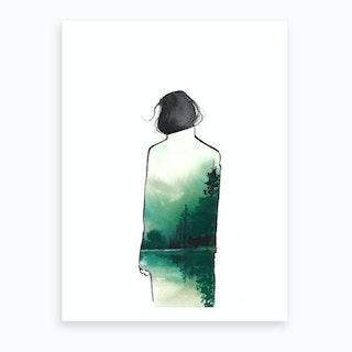 Mountain Coat Art Print