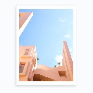 Urban Dream Landscape Pink Art Print