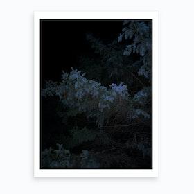 Dark Black Blue Art Print