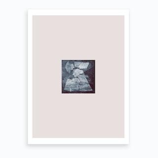 Etching Grey Hidden Places Art Print