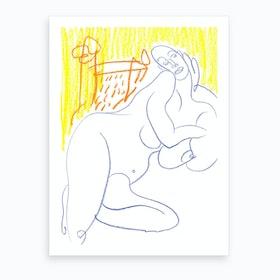 Me On The Chair 1 Art Print