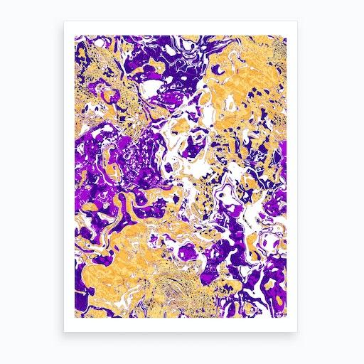 Abstract Marble II Art Print