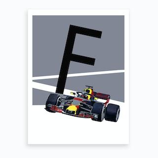 F Formula1 Art Print