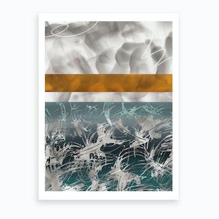 Orange Smoke V Art Print