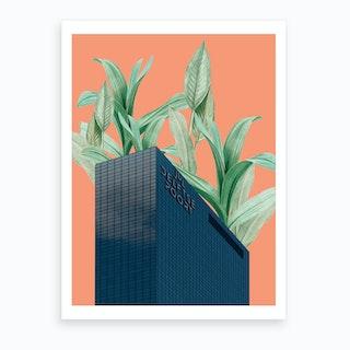 Plant Building Art Print