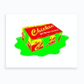 London Toxic Chicken Box Art Print