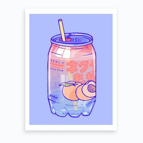 Peach Soda Art Print