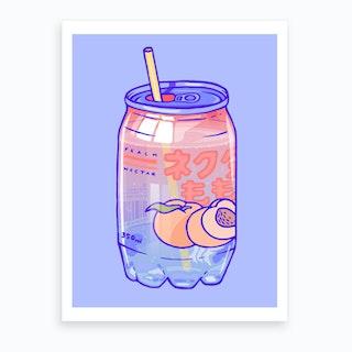 Peach Soda Art Print