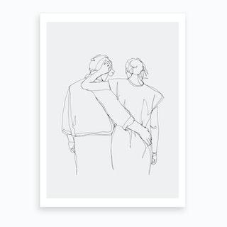 Walk Art Print