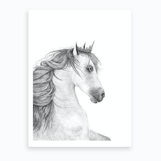 Queen Horse Art Print